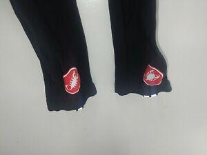 Castelli Road Bike Long Pants Size XL Black Bib Short Long Bike Pants