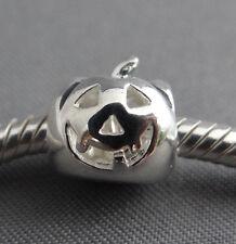 Sterling Silver .925 Jack O'Lantern European Charm Bead for Charm Bracelet