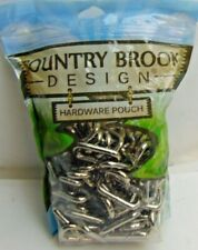 100- Country Brook Design® HARDWARE POUCH 1 Inch Welded Heavy  RECTANGLE RINGS