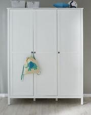 Kleiderschrank weiß Landhaus Kinderzimmer Babyzimmer Schrank 140 cm 3 Türen Ole