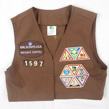 Girl Scouts U.S.A Brownie Vest M Medium With 19 Patches Nations Capital