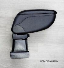 Armrest Centre Console Storage Adjustable Black Skoda fit FABIA III 2014-