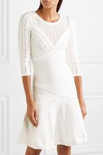 NWT HERVE LEGER KALYN  ALABASTER  DRESS   BANDAGE DRESS  XS $1,540.00