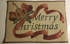 Vintage Tapestry Placemats Metallic Gold & Burgundy 2 NWOT