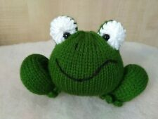 Knitted Frog, Stuffed Toy, Handmade Soft Toy