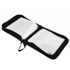 For 40pc Space CD DVD Bluray Discs Protective Carry Case Storage Bag Wallet