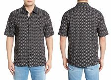 NAT NAST Seco Silk Cotton Short Sleeve Shirt in Black Sz.Small NWT $155