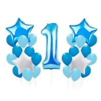 Boy Girl 1st Happy First Birthday Party Foil Balloons Baby Shower Decoration