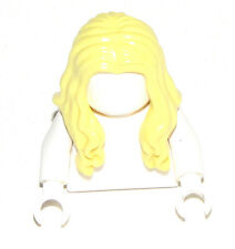 LEGO NEW BRIGHT LIGHT YELLOW BLONDE MINIFIGURE HAIR LONG WAVY GIRL WIG PIECE