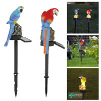 Solar Power LED Parrot Lawn Light Outdoor Waterproof Garden Park Landscape Lamp