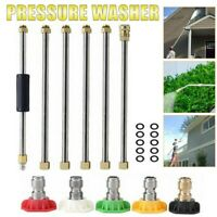 High Pressure Washer Extension Wand Set 4000PSI Washer Gun Lance w/5 Nozzles