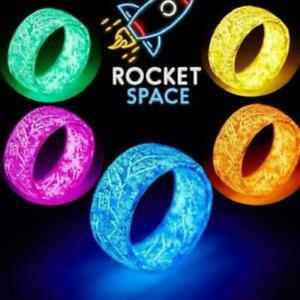 Luminous Resin Ring Fluorescent Glowing Rings The Glow Men Gifts Dark Ring B1C3