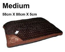 Medium comfy doux lavable chien animaux chat chaud panier lit coussin oreiller s-marron
