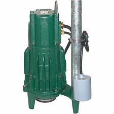 Zoeller Shark® 820-0011 - WD820 2 HP Cast Iron Grinder Pump w/ Piggyback ...