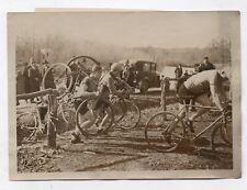 PHOTO Championnat de Paris Cross Cyclo Montlhery Vélo Cyclisme 1933 Autodrome