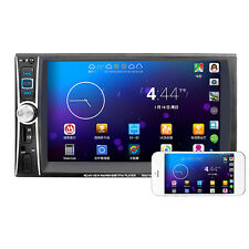 New Double 2DIN Car MP5 MP3 Player Bluetooth Touch USB FM Stereo Radio + Camera