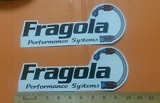 """2 pcs. Fragola Performance Systems Racing Decal  Sticker 10"""" x 4"""" free tracking#"""
