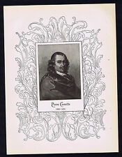 Pierre Corneille - French Dramatist -1898 Portrait Print - Ornate
