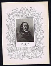Pierre Corneille - French Dramatist -1898 Portrait Print - Ornate