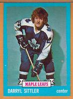 1973-74 , TOPPS , DARRYL SITTLER , CARD #132