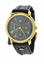 Maurice Lacroix Calendar (French days) 18K Gold Plated Swiss Watch 34996-5282