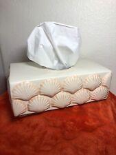 Ceramic Tissue Holder Decorative Tissue Rectangular Covers Box Pink Shell Gl3-87