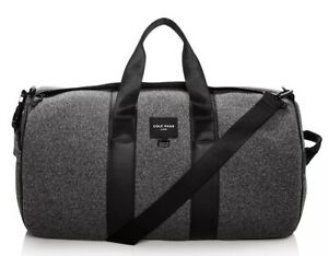 COLE HAAN  Men's Grey Neoprene DUFFLE Bag CARRY-ON Leather Trim MSRP $280 NWT