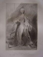 Grande gravure Portrait Marie Josèphe d' Autriche Reine de Pologne Archiduchesse