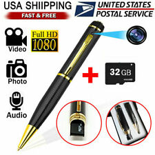 US HD 1080P Hidden Camera Pen 32GB Video DV/DVR & Vioce Recorder Security Cam