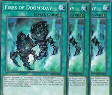 YuGiOh 3x Fires of Doomsday SR06-EN028 COMMON ENGLISCH TCG AtzenJens
