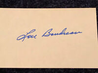 Lou Boudreau signed autographed 3x5 Index Card - Cleveland Indians, Red Sox HOF