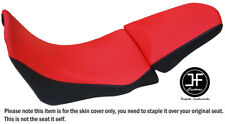 DSG2 RED BLACK VINYL CUSTOM FOR HONDA CRF1000L 15-17 LOW FRONT REAR SEAT COVER