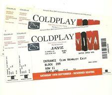 Coldplay tickets Wembley Stadium 2009