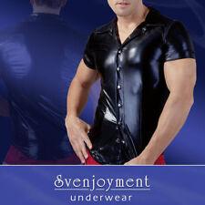 Unifarbene Herren-Freizeithemden & -Shirts Hemd-Stil aus Polyester