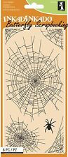 HALLOWEEN WEB Clear Unmounted Rubber Stamp Set 6 Stamps INKADINKADO NEW 60-31291