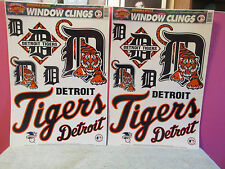 Lot 2 Detroit Tigers baseball Window cling decal sheets car auto 18 stickers art