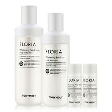 Tonymoly Floria Whitening Toner+Emulsion Set Skin Care Moisturizing Brightening