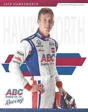 """2016 INDY 500 JACK HAWKSWORTH ENGLAND AJ FOYT RACING INDYCAR 8""""X10"""" HERO CARD !"""
