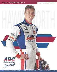 "2016 INDY 500 JACK HAWKSWORTH ENGLAND AJ FOYT RACING INDYCAR 8""X10"" HERO CARD !"