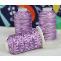 VARIEGATED MULTICOLOR 100% COTTON THREAD 600M BY THE SPOOL - 22 COLORS AVAILABLE