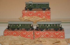 Märklin H0/00 * 2 x Donnerbüchse 4002 & 1 Gepäckwagen 4003 im O.K. * Nachkrieg