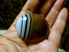 Large Antique Victorian Cabochon Banded Agate Brooch