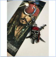 Captain Jack Sparrow Pirates of the Caribbean Vintage Skull Key ring Key chain