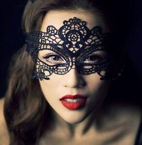 Masque Loup Vénitien Dentelle Noire / Ecru Carnaval Bal érotique Libertin