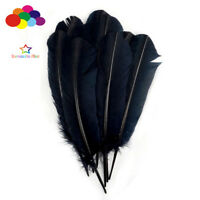 100 pcs black Turkey Quills by Wing feathers 28-33 CM/11-13 Inch Diy Carnival