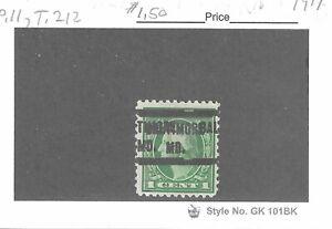 JimbosStamps, U.S .precancels 1917 issue 1 ct. Wash., BALTIMORE MD. dbl. stk.