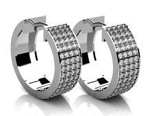 2.00 Ct. TW Round Diamond Inside/Outside Hoop Earrings in 18 kt. Clip Mounts