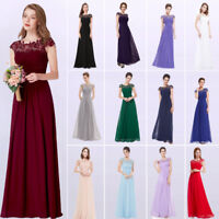 US Ever-Pretty Long Bridesmaid Dresses Maxi Party Lace Formal Evening Gown 09993