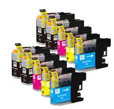10PK Combo Printer Ink chipped for Brother LC101 LC103 MFC J470DW J650DW J870DW