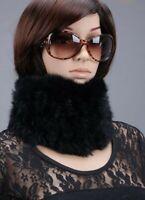 Real Rex Rabbit Fur Scarf Wrap Collar Neck Warm Winter Infinity Women Muffler